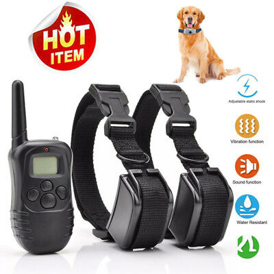 Dog Shock Training Collar Remote Vibration Pet Trainer Waterproof Rechargeable