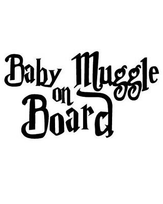 Muggle On Board Decal Car Window Harry Potter Wizard Cool Baby On Board Sign Fun