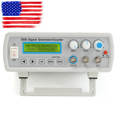 2MHz DDS Function Signal Generator Sine/Square Wave+ Sweep + Frequency Meter USA