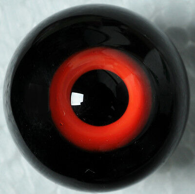 Nice Red&Black 14mm Glass Eyes for Joint NiceBorn MSD 1/4 BJD Dollfie