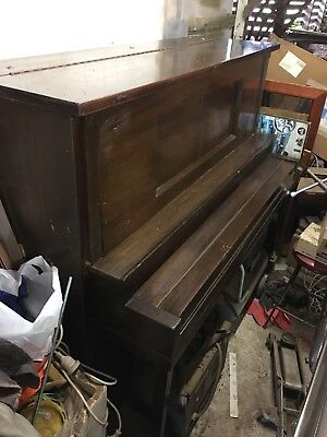Ritatone 100 Year Old Antique Metal Frame Upright Piano Made In New York