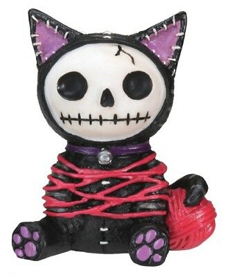 Furrybones Mao-Mao Figurine Black Cat Kitten Skeleton Skull Gothic Cute Gift Fun