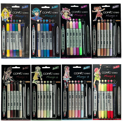 COPIC Hobbymarker ciao 5+1 Set Manga / Marker + Multiliner 8 Sets