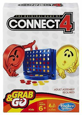 Hasbro Connect 4 Four Travel Version Grab & Go Classic Family Game NEW