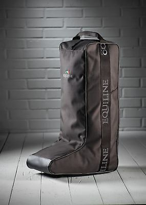 Equiline boot bag brown with large lettering and logo