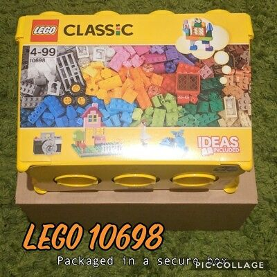 Lego 10698 Classic Large Creative Brick Box Construction Set Ideas Included New