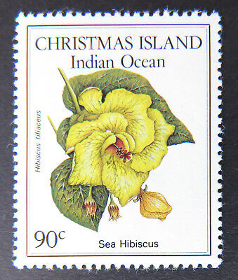 1986 Christmas Island Stamps - Native Flowers - Single 90c - Sea Hibiscus MNH