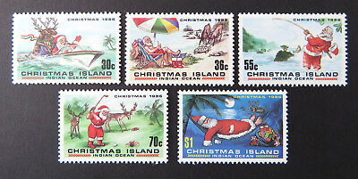 1986 Christmas Island Stamps - Christmas - Set of 5 MNH