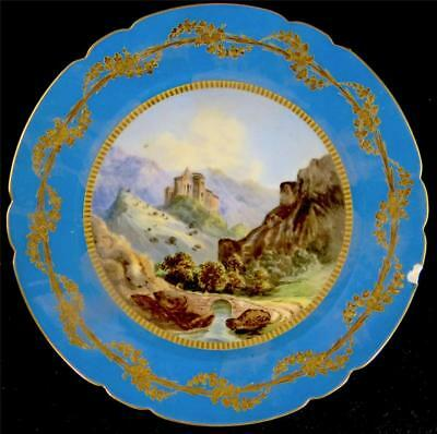 Antique 19Th Century French Sevres Style Porcelain Tazza Plate