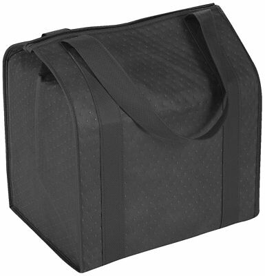 """Large Reusable Insulated Cold/Hot Shopping Grocery Food Bag W/ 20"""" Handle Black"""
