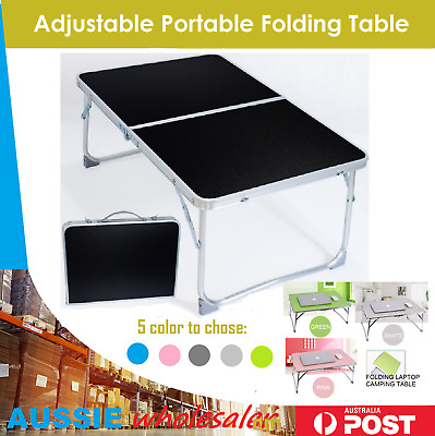 Adjustable Portable Camping Folding Laptop Table Desk Computer Reading Bed Tray
