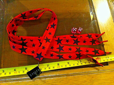 Red White Black Skull Shoelaces Lases Laces Flirt New Shoe