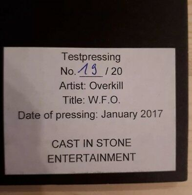 Overkill - W.F.O. testpress whitelabel numbered