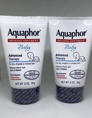 Lot 2 Aquaphor BABY HEALING OINTMENT Advanced Therapy 3oz No Diaper Rash In 6hrs