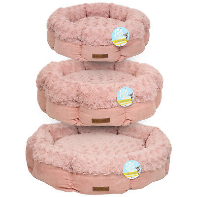 Me & My Pets Super Soft Pink Fleece Round Cat/kitten/dog/puppy Cosy Warm Bed