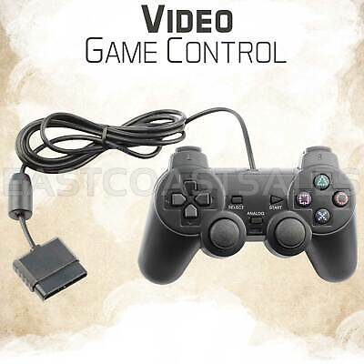 Blue Twin Shock Video Game Controller Joypad Pad for Sony PS2 Playstation 2