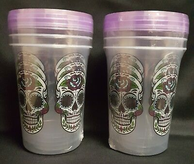 Sugar Skull Reusable Storage Containers Set of 6  NEW Day of the Dead Kitchen