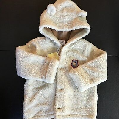 Gymboree NWT Baby Bear Ears Button Jacket 18-24 Mo Sherpa Hooded Boys Girls Gift