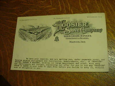 Vintage Hoosier Stoves Co. Pad of Letterheads (10) - Marion, Indiana