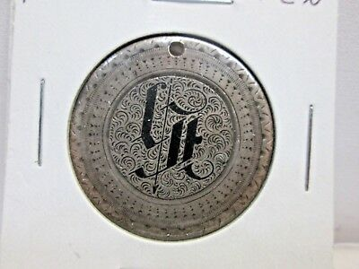 1867 Us Seated Liberty Half Dollar Love Token With Hole -Fancy