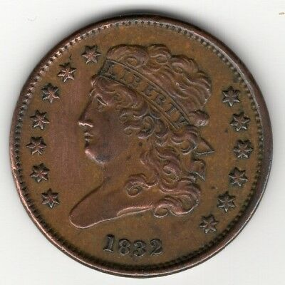 1832 Half Cent Classic Head Fine to Very Fine Nice Example No Reserve