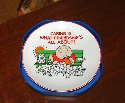 Vtg American Greetings Ziggy Plate Caring Is What Friendship's All About 1984