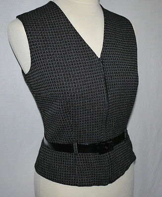 STYLISH 80's VINTAGE LADIES JOSEPH RIBKOFF SPORTS LUXE FASHION WAISTCOAT S VGC