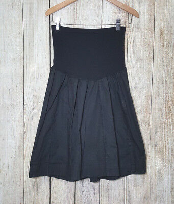 Motherhood Maternity Skirt Black A Line Cotton Blend Size Xtra Large XL