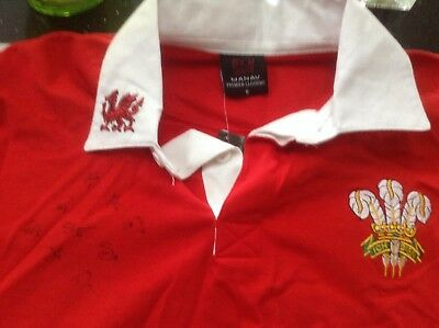 Signed Wales Rugby Shirt