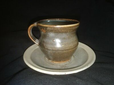 Studio pottery David Leach St Ives cup and saucer