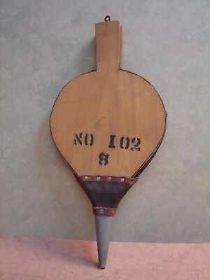 Vintage Wood & Leather Fireplace Bellows, No. 102