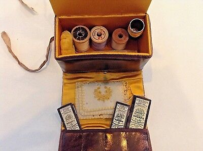 Leather Shaker Sewing Kit 19th Cent.
