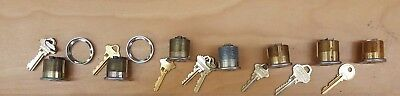 (Lot of 7) Mix of Schlage, Yale, Everest Mortise Lock Cylinders