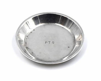 ANTIQUE TIFFANY & CO ROUND ASH TRAY 925 STERLING SILVER PATTERN 20099 c1921