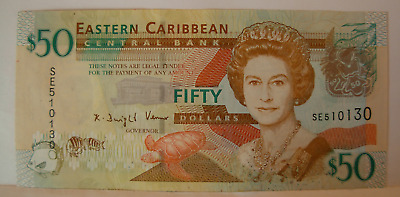 East Caribbean States ND 2008 $50 Note
