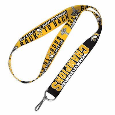 Pittsburgh Penguins 2016 & 2017 Back To Back Stanley Cup Champions Lanyard
