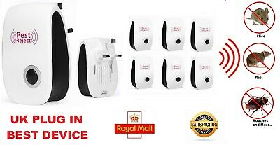 6 PACK Pest Control Whole House Electronic Rat Mouse Mice Spider Repeller PLUG