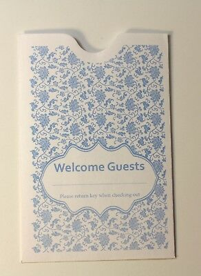 "Hotel Keycard Envelope/ Sleeve ""Welcome Guests"" 2-3/8"" x 3-1/2"" 5000CT (KCH240B)"