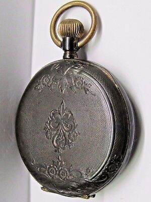 Antique 1800's No Name Silver/Gold, Pocket Watch, 37 mm in size.