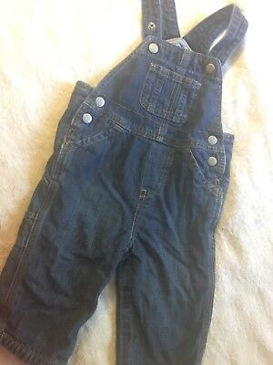 Toddler Baby Gap Denim Blue Jean Overalls, Sz 12-18 Mos