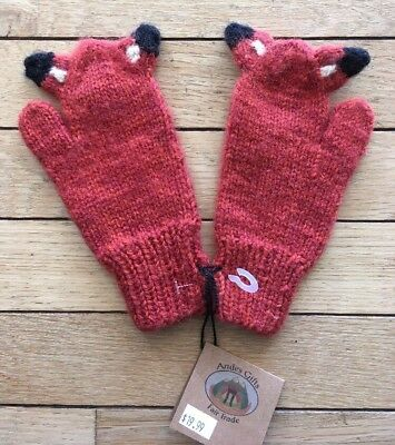 andes gifts fair trade fox mittens