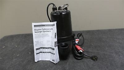 Dayton 4HU81 1/2 HP 1750 RPM 240VAC Manual Submersible Sewage Pump