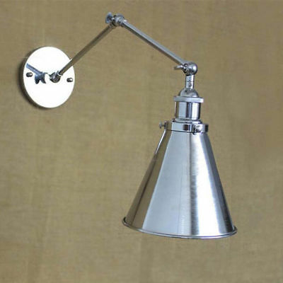 Loft Retro Swing Arm Chrome Colored Ceiling Light Wall Lamp Fixture