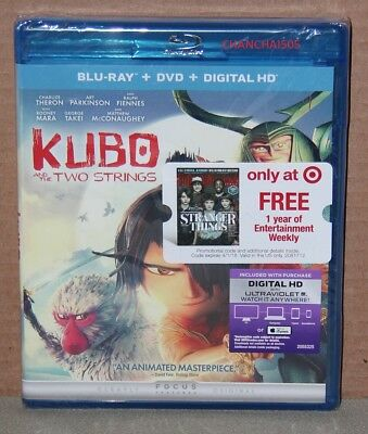Kubo and the Two Strings (Blu-ray/DVD, 2016, 2-Disc, Digital) Brand New, Sealed