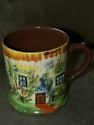 Vintage Studio Pottery Massive Tankard of House and Garden Mark Lynmouth 12.5cms