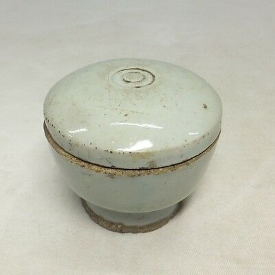 D744: REAL old Korean Joseon-Dynasty white porcelain covered pot with good tone