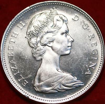 Uncirculated 1966 Silver Canada $1 Dollar Foreign Coin Free S/H
