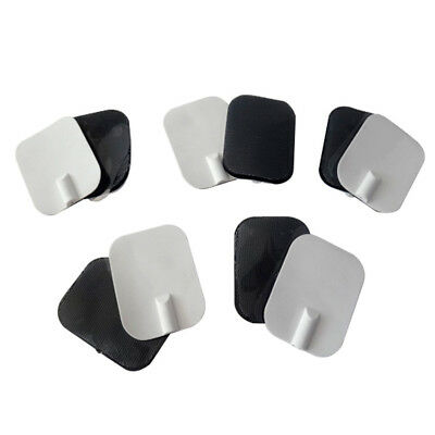 10 Pcs 6x4cm Reusable Self Units Electrode Pads for Digital Therapy Tens Massage