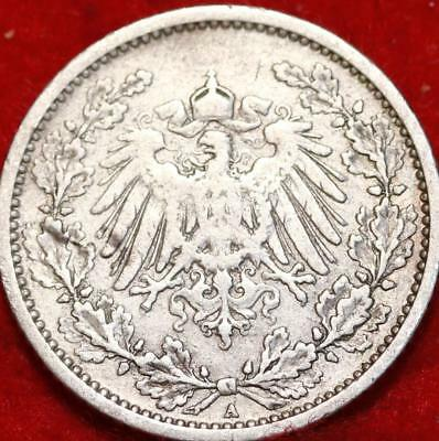 1905 Germany 1/2 Mark Silver Foreign Coin Free S/H