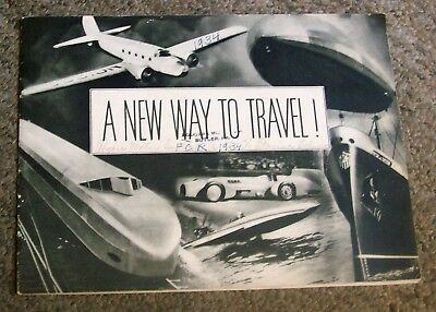 """1934 DeSoto """"A New Way to Travel"""" Original Catalogue Issued by Chrysler Corp."""